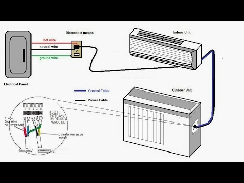split a/c simple wiring diagram simple  easy  youtube