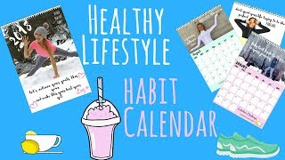 HEALTHY LIFESTYLE CALENDAR - Fun way to get healthy and to get fit and eat a healthy diet
