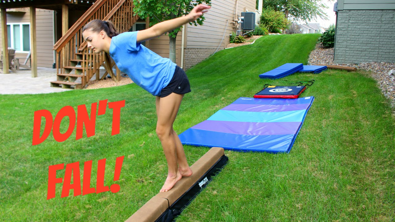 THE GROUND IS LAVA: GYMNASTICS OBSTACLE COURSE