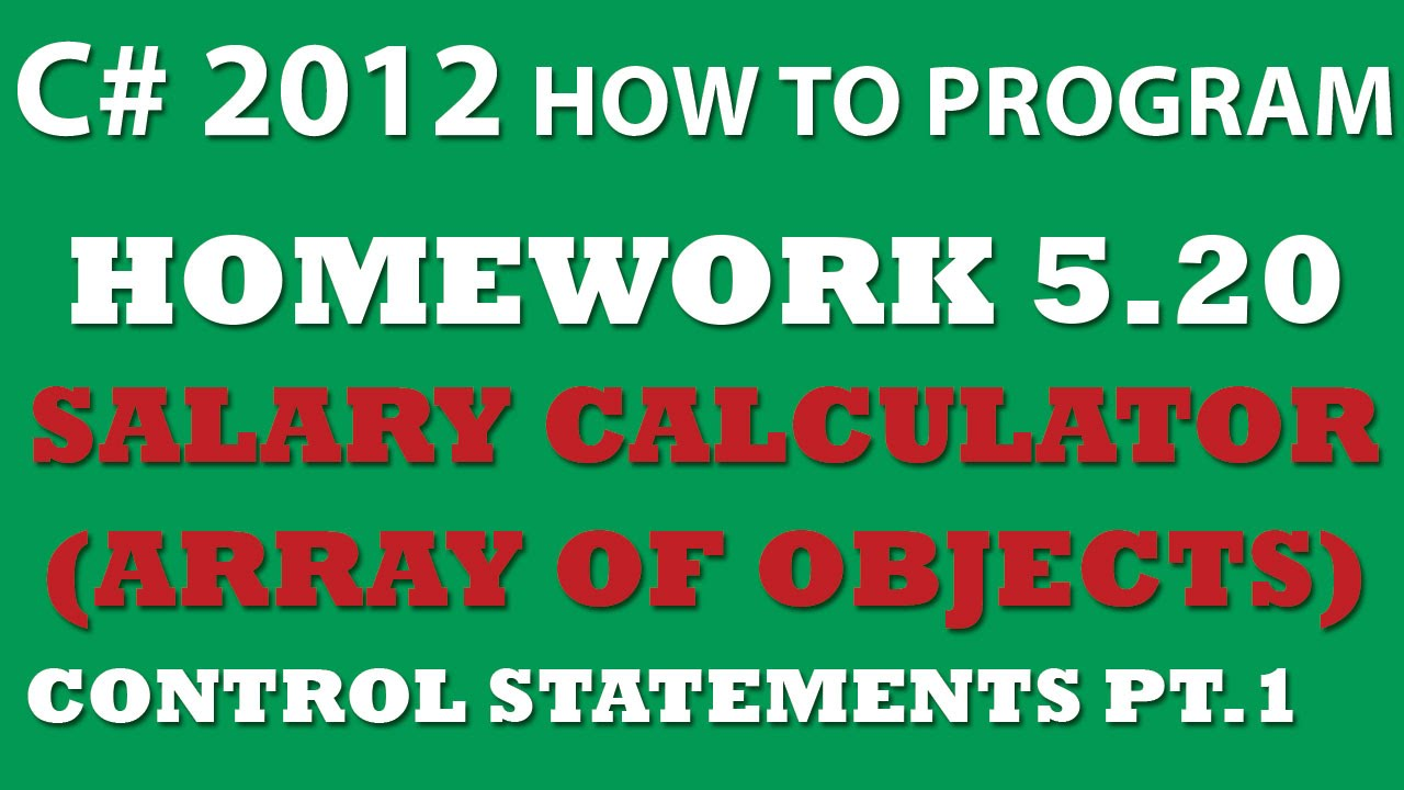 c salary calculator using array of objects 5 20 c salary calculator using array of objects