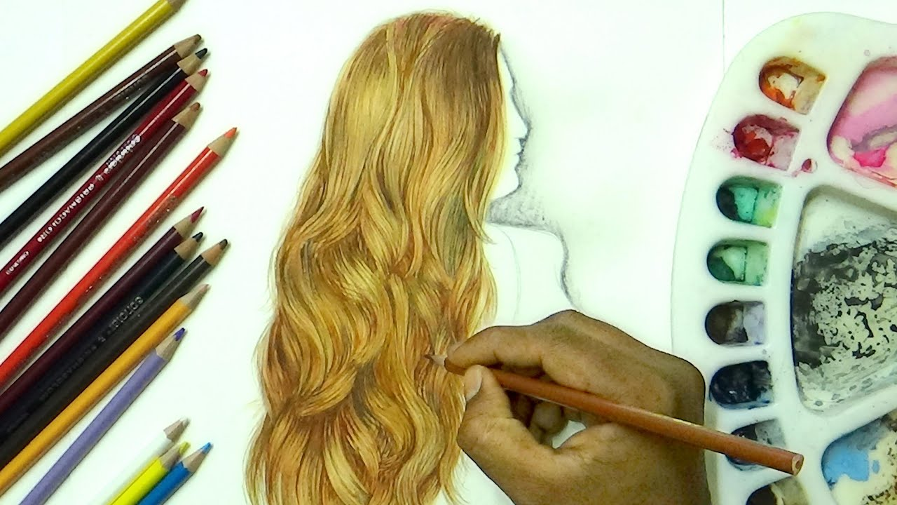 drawing soft wavy hair- draw