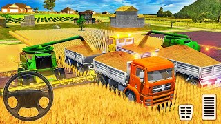 Real Tractor Driving Simulator 2021 - Farming Tractor Cultivating Wheat Field - Android Gameplay