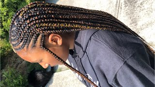#Back2School Tribal Feed In Braids