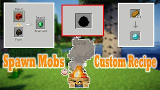 MINECRAFT: How to Spąwn Egg and Custom Recipe (Furnace, Campfire, Stonecutter,..) - Addons Maker