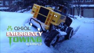 """winter Towing"" New Build Axial Scx10 Tonka Truck In Snow Scalin Fun"