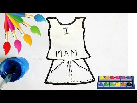 ОДЕЖДА раскраска для детей/Как нарисовать одежду/Рисование карандашом поэтапно/Легкие рисунки гуашью