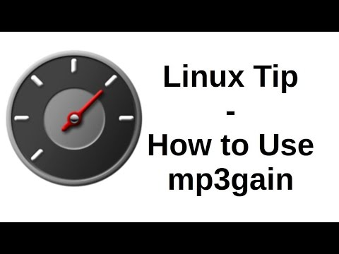 Linux Tip - How to Use mp3gain