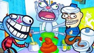 ИГРА   Троллим весёлых ИГРОВЫХ героев в смешной игре Troll Face Quest Video Games 2