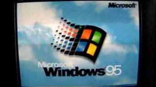 A 1997 IBM Aptiva E16 in action booting Windows 95
