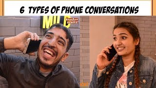 SIX TYPES OF PHONE CONVERSATIONS | KHUJLEE FAMILY | #GAARIPAKISTAN