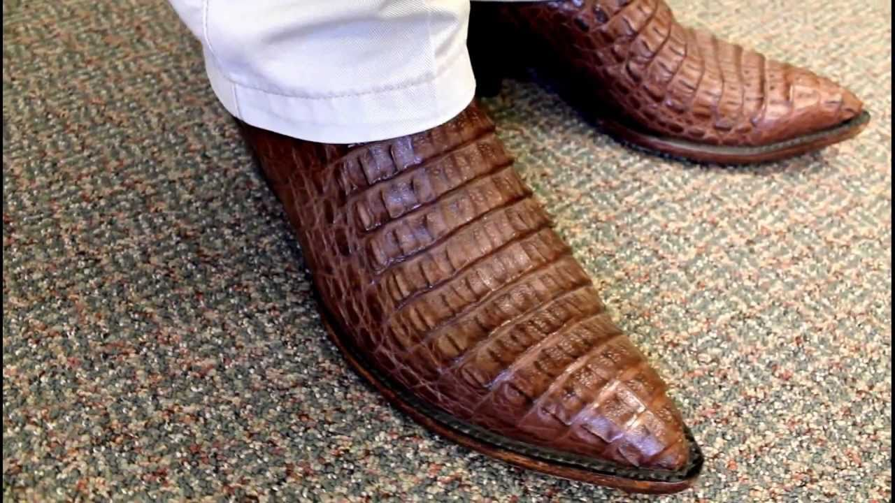 Tobacco Caiman Belly Boots Youtube