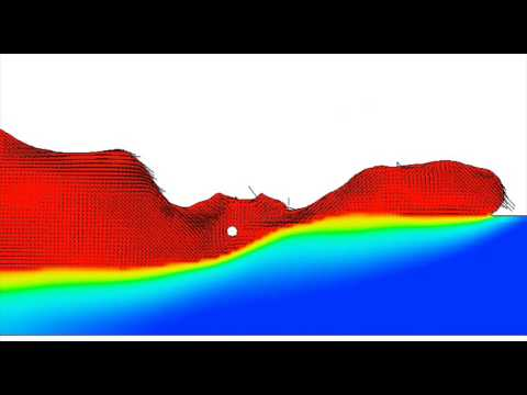 Tandem simulation result by CFD (Flow-3d) (Low current at leading electrode)