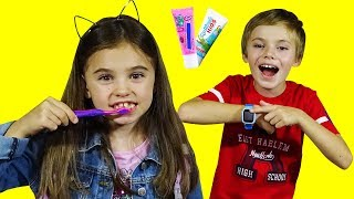 Put On Your Shoes Song / Pretend Play Morning Routine Brush Teeth /Nursery Rhymes Kids Songs