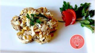 How to make Chicken Salad - Chicken Salad Recipe - Салат с курицей и грецкими орехами