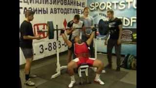 Жим под углом 45 - 140 кг. Спортстудия.