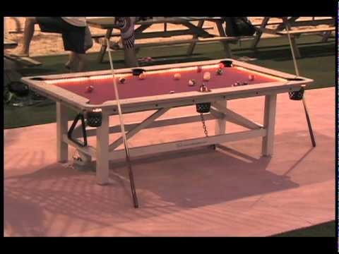 Outdoor Pool Table   YouTube