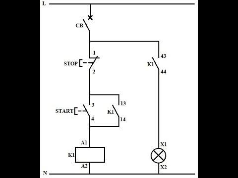 latching circuit using contactor - youtube  youtube