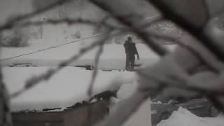 УБОРКА СНЕГА С КРЫШИ . СНЕГОПАД В УКРАИНЕ 2019.  Blizzard in Ukraine . НЕПОГОДА.