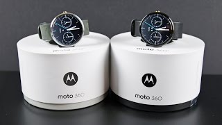 Moto 360 (Black vs Gray): Unboxing & Review(Detailed unboxing & complete feature walkthrough of the Moto 360 in Gray and Black. This video also includes the configuration and pairing process along with ..., 2014-09-17T00:18:36.000Z)