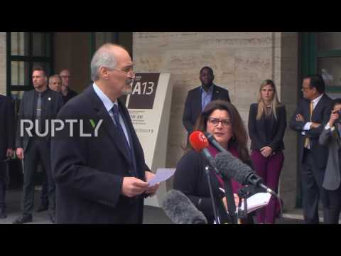 Switzerland: Syria's Jaafari to review memo from UN's de Mistura