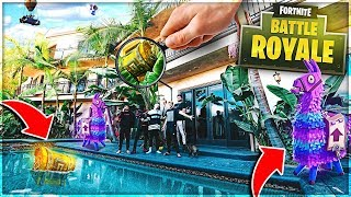 In Real Life FORTNITE Scavenger HUNT!!