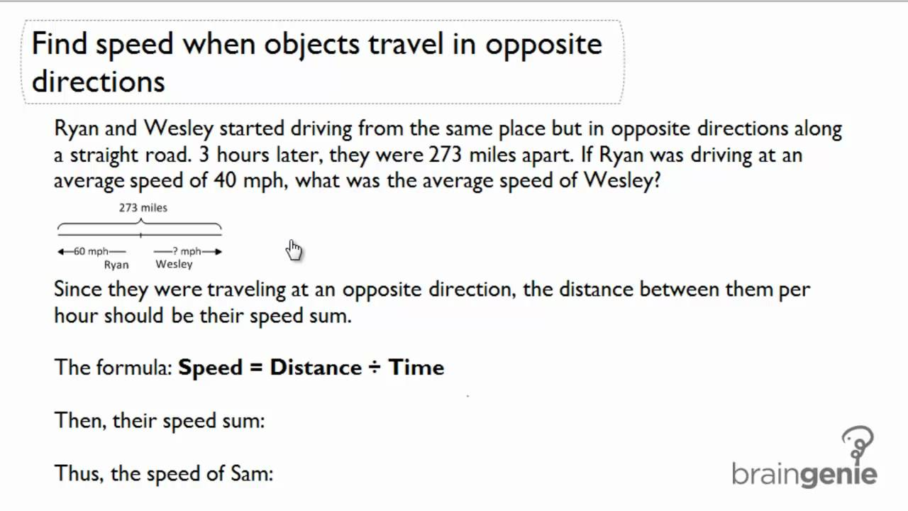 Worksheet Opposite Objects opposite objects scalien 3 1 7 find speed when travel in directions