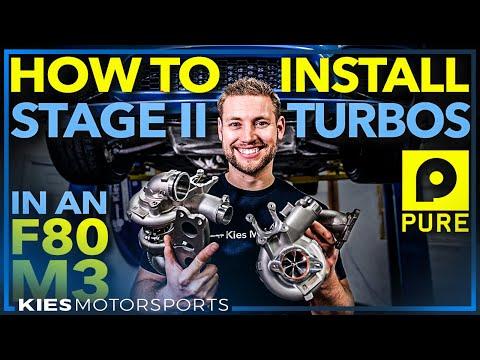 DIY: F80 M3 Pure Stage 2 Turbos Install (F80 M3, F82 M4, an F87 M2 Comp)  #PureTurbos
