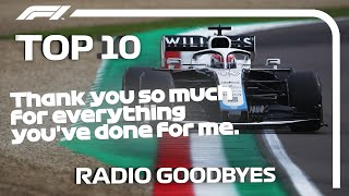 Top 10 F1 Radio Goodbyes
