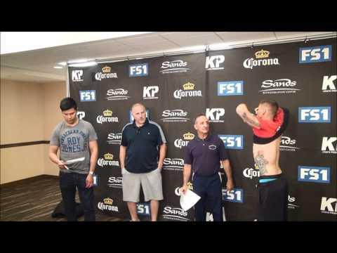 Miguel Cruz - Alex Martin 2 weigh in, June 26, 2017