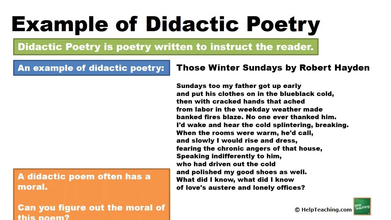 didactic in literature