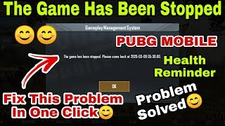 Pubg Game Managment System The Game Has Been Stopped Please Come Back Problem Solution