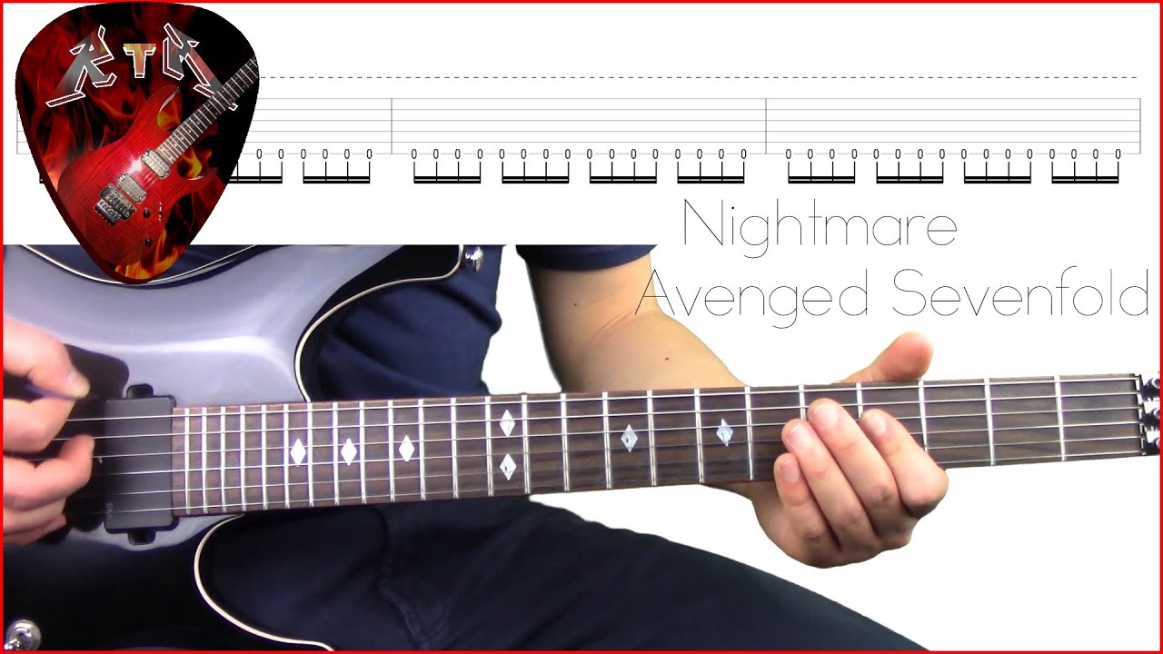 Nightmare Guitar Lesson - Avenged Sevenfold (with tabs)