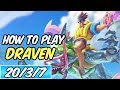 HOW TO PLAY DRAVEN | Build & Runes | Diamond Commentary | Pool Party Draven | League of Legends