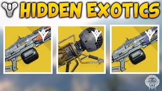 Destiny: HIDDEN EXOTIC WEAPONS! Dubious Volley Launcher, Solar & Void Thunderlord (The Taken King)