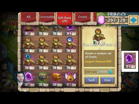 Opening Awesome P2P Rewards + Rolls For Gunslinger Castle Clash
