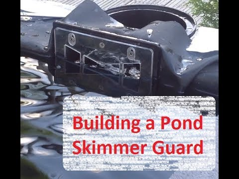 Pond skimmer with fish guard