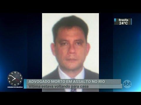 Advogado é morto em tentativa de assalto no Rio de Janeiro | SBT Brasil (27/02/18)