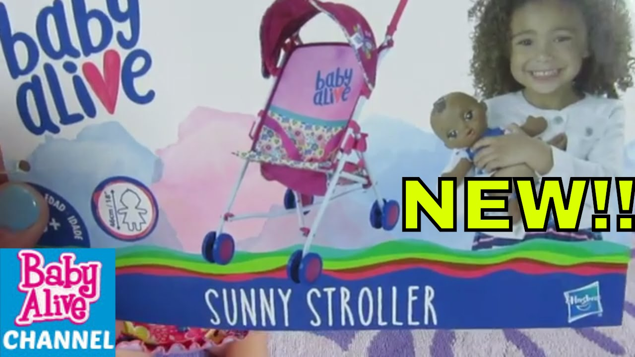 Baby Alive Doll SUNNY STROLLER Unboxing with Sweet Dreams ...
