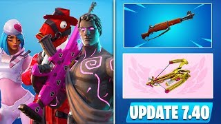*HUGE* Fortnite Update v7.40! Valentine Rewards, New Skins, Early Patch Notes, & Season 8 INFO!