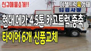 현대메가트럭 4.5톤카고트럭중축화물차 적재함길이 5.3…