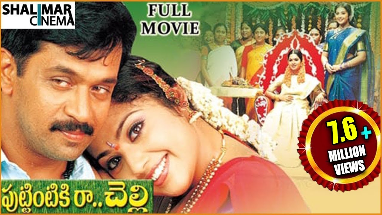 Puttintiki Ra Chelli Telugu HD Movie Watch Online | Arjun, Meena
