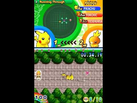Pokemon Dash Gameplay DS