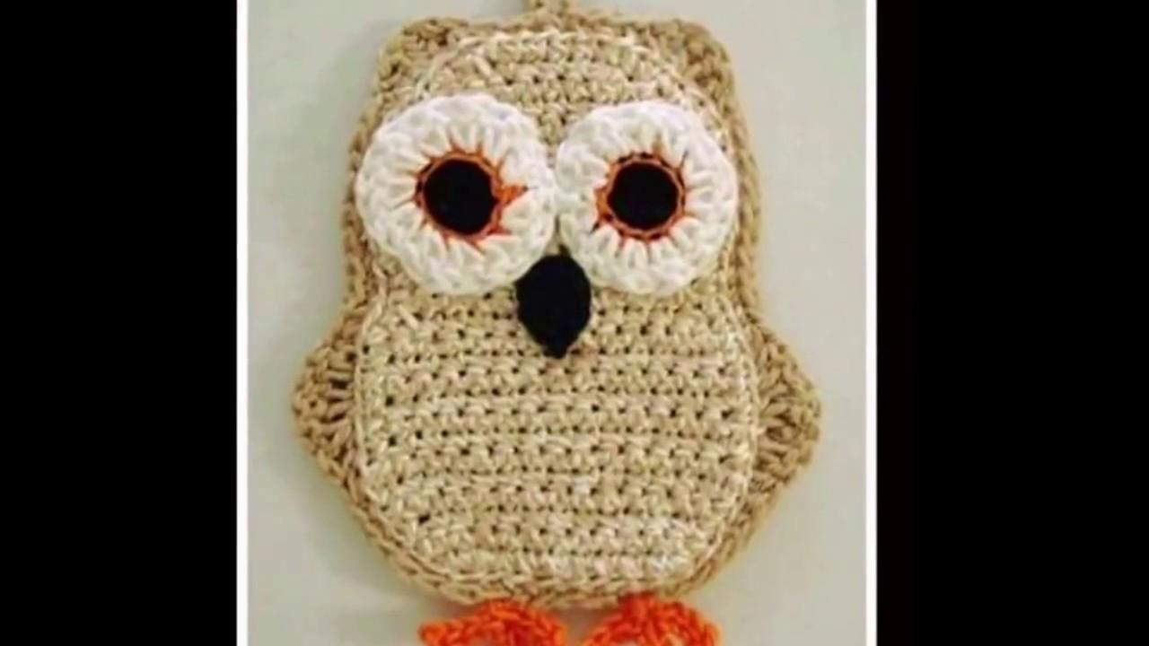 Agarradera Cocina tejida a Crochet  YouTube