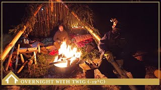 OVERNIGHT AT THE BUSHCRAFT SHELTER: (-12°C) First winter overnight at camp