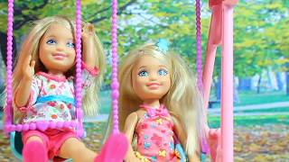 Барби мультик с куклами НА ДЕТСКОЙ ПЛОЩАДКЕ Barbie dolls videos