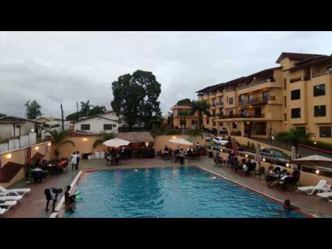 Africa Liberia Monrovia - Palm Spring Resort - Pool Party