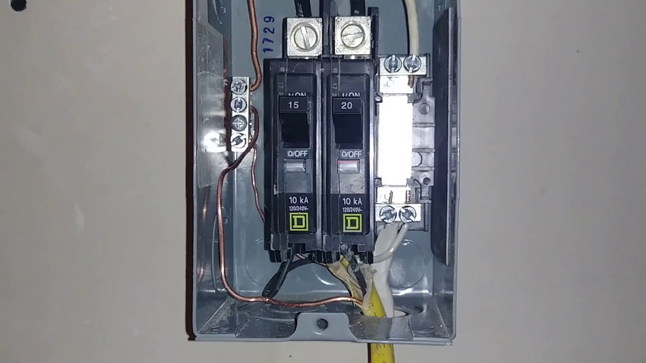 How to wire a sub panel 30 amp Garage Sub Panel Wiring Diagram V on