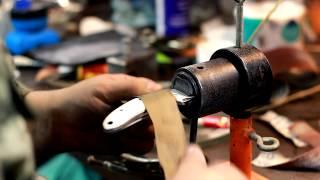 видео Накладной монтаж рукояти ножа