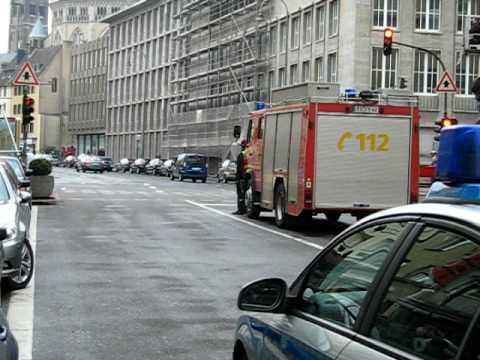 Stuntaufnahme Cobra 11 auf der Christophstraße Köln