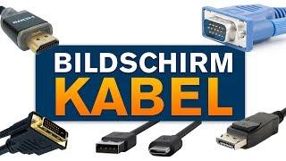 Bildschirm anschließen an den PC - HDMI, VGA, Displayport & USB-TYPE C Unterschiede (Tutorial)